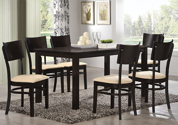 SF DT8118 (8f-sq) Macra Dining Table <br>SF DC9681 Skater Dining Chair 1+6