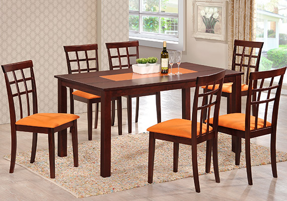SF DT8996 Tern Dining Table  <br>SF DC8889 Wellon Dining 1+6