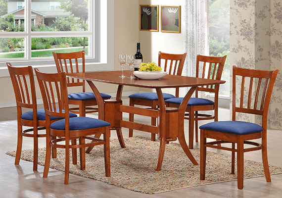 SF DT9296 Gallop Dining Table <br>SF DC9685 Gitana Dining Chair 1+6