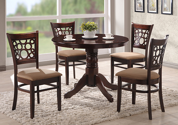 SF RDT9999(1000XCO2) Camino Round Dining Table <br>SF DC6998 Mincy Dining Chair
